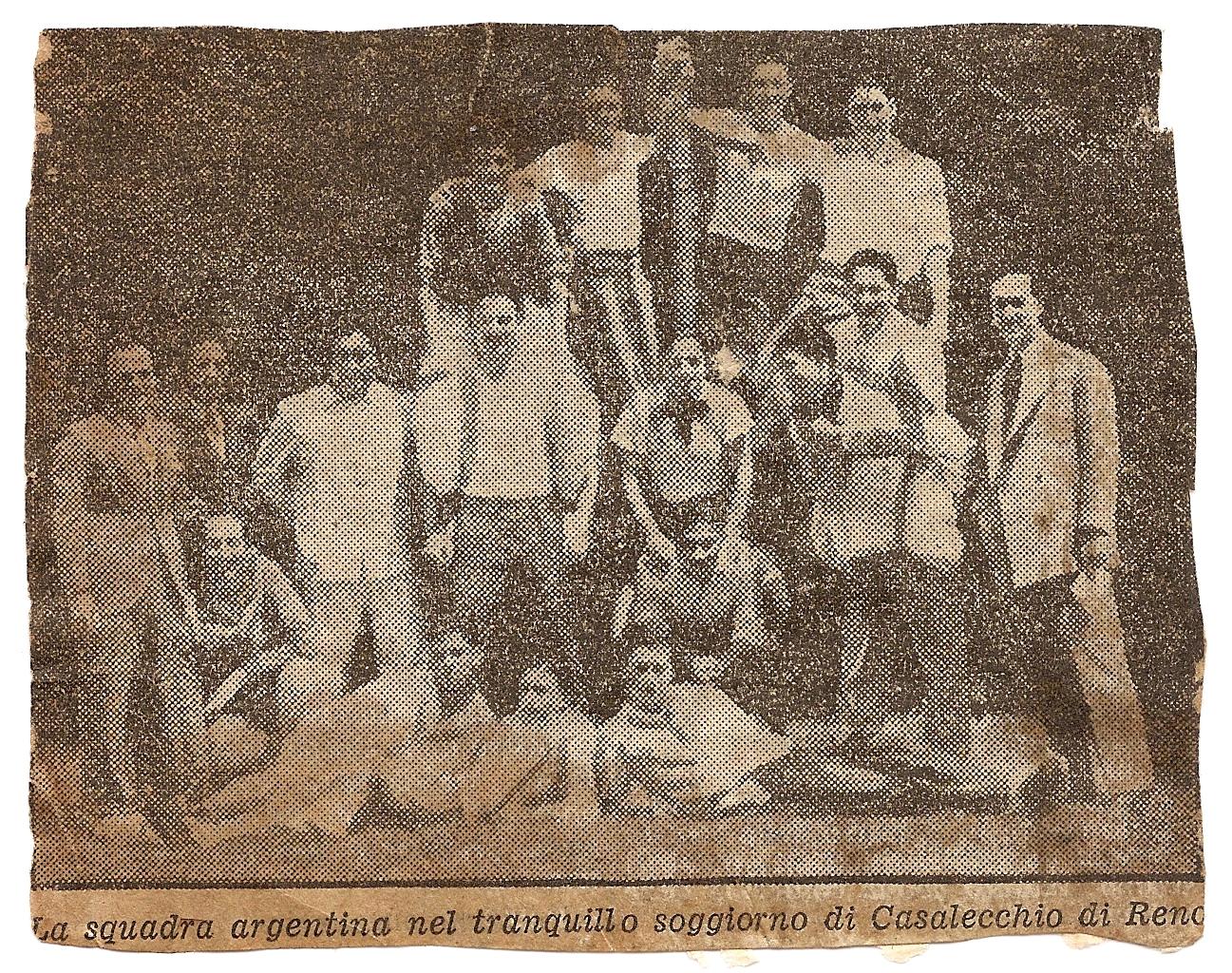 La nazionale argentina durante il ritiro a Casalecchio