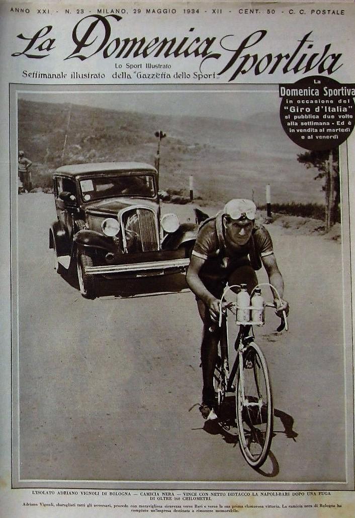 Adriano Vignoli vincitore della tappa al Giro d'Italia