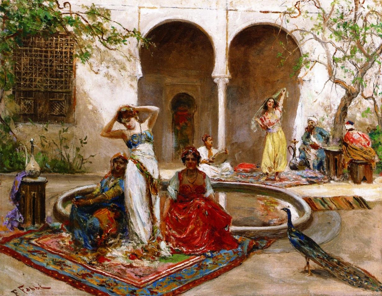 Ballando nel cortile dell'harem