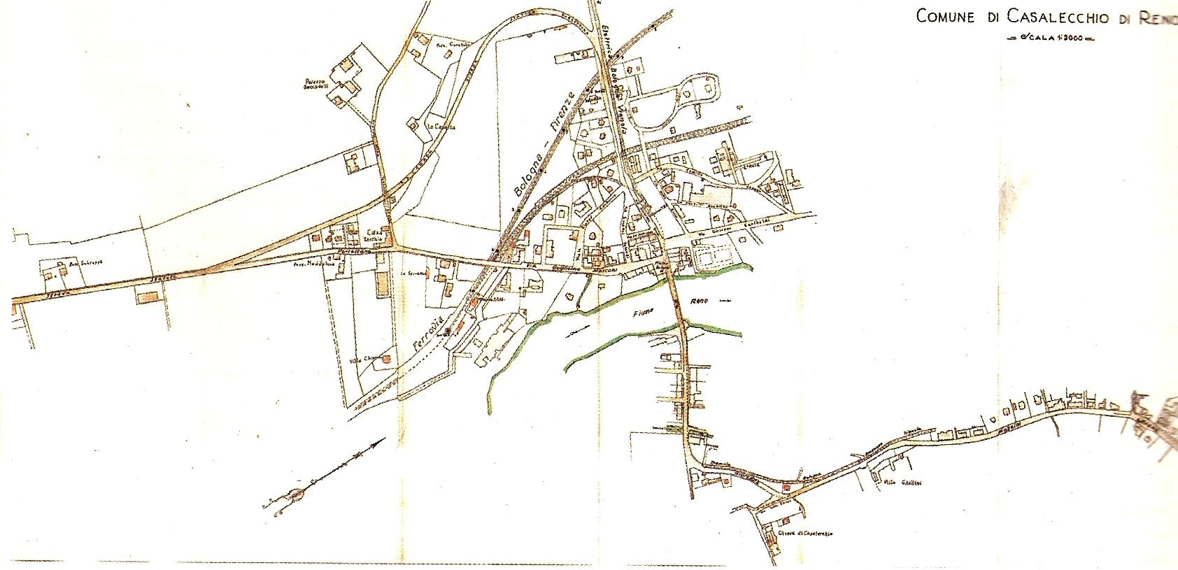 Planimetria generale del centro di Casalecchio
