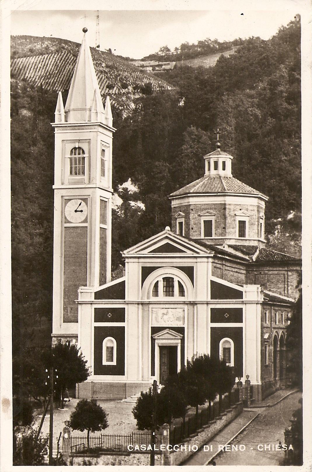 La Chiesa Parrocchiale di San Martino all'inizio degli anni'40, ormai completata col nuovo campanile a sinistra