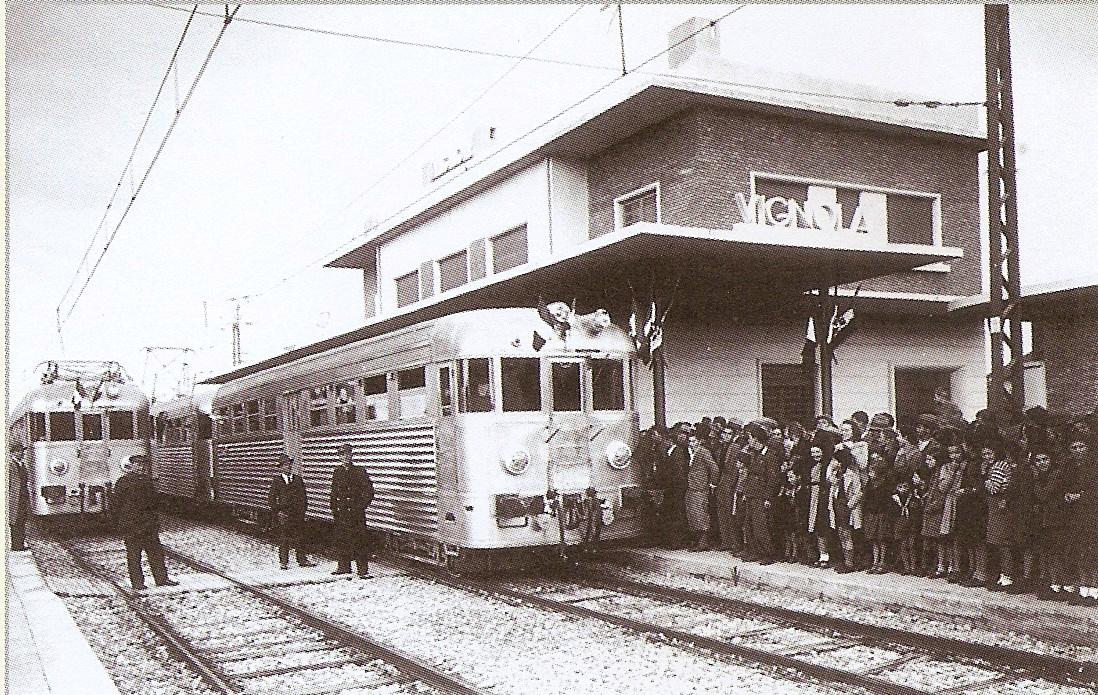 Arrivo del treno inaugurale a Vignola