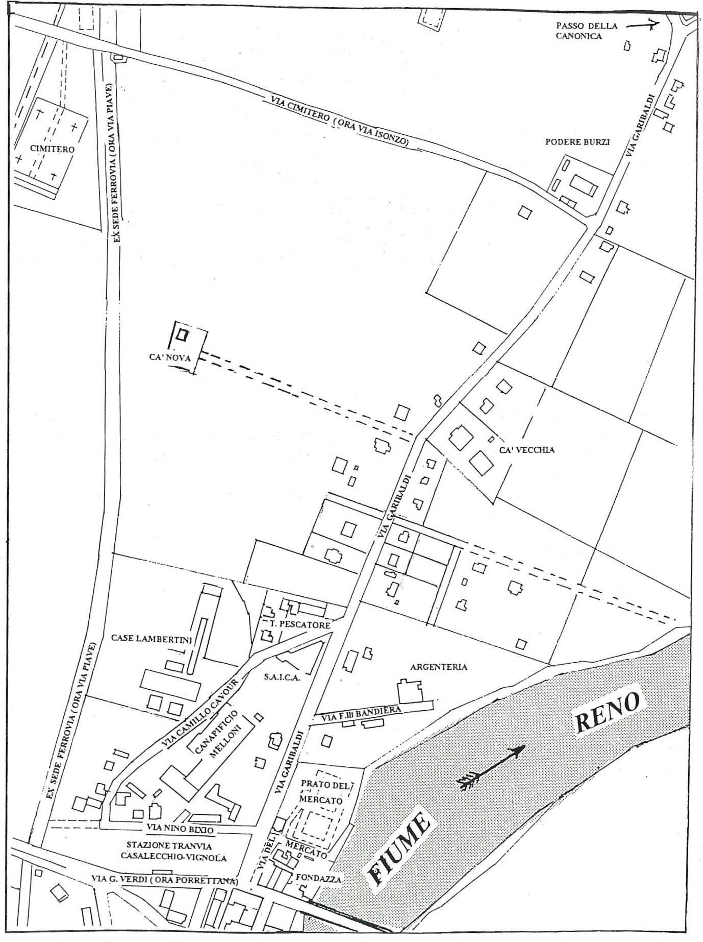 1914 - Planimetria zona Garibaldi