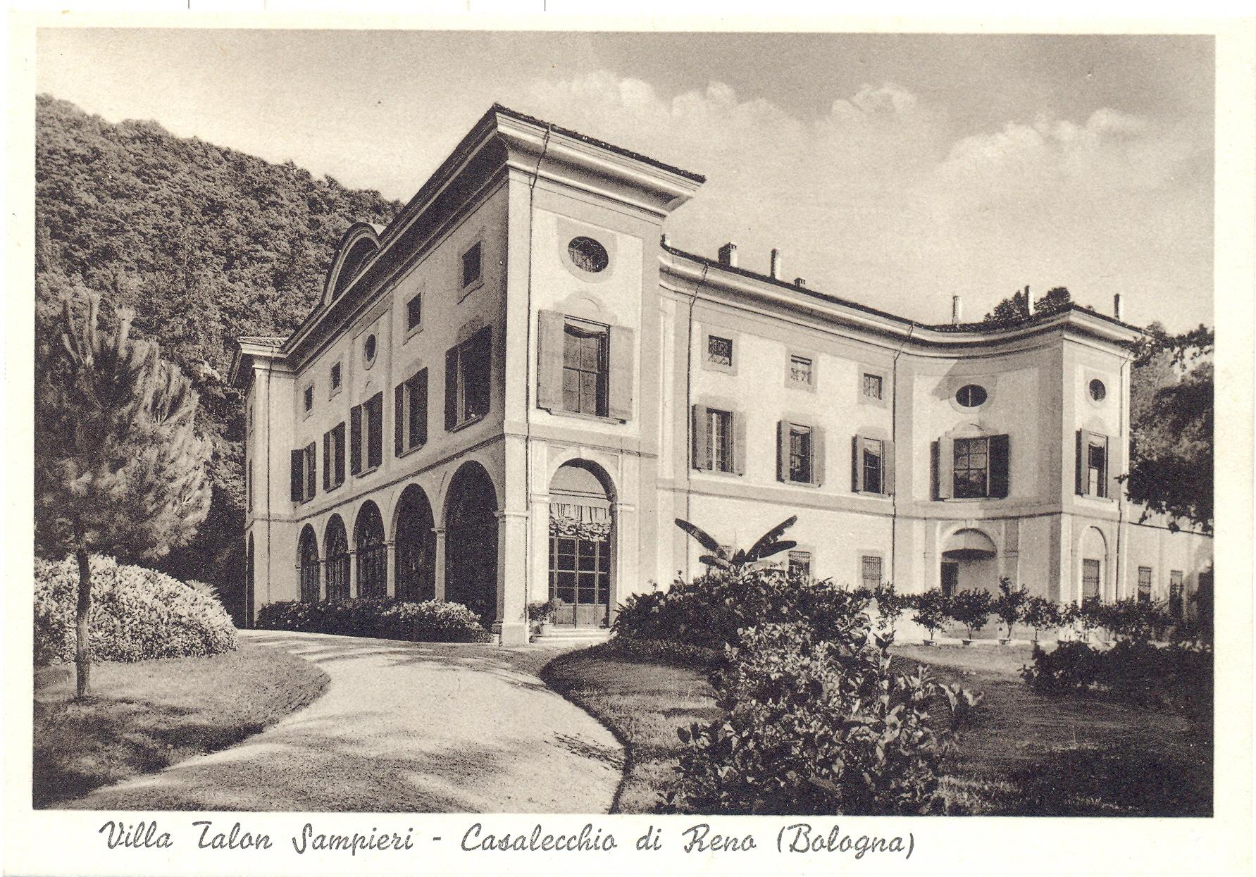 La villa Sampieri Talon (Archivio fotografico Biblioteca C. Pavese)