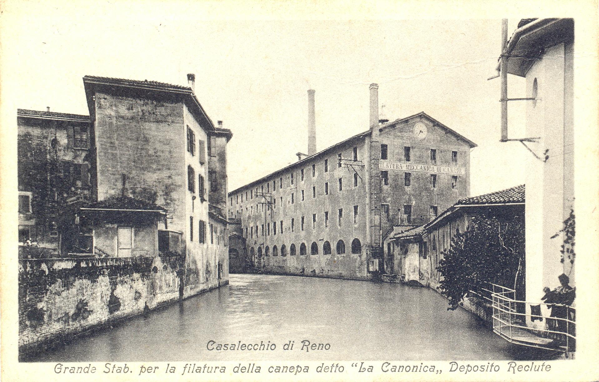 La Filanda alla Canonica (Archivio fotografico Biblioteca C. Pavese)