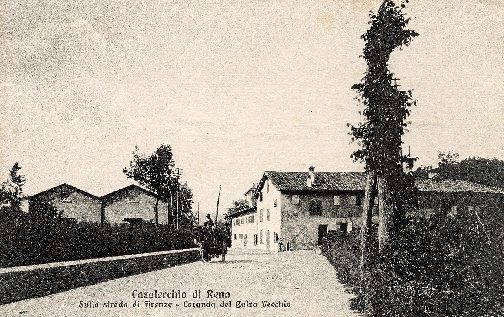 L'antica Osteria del Calza all'inizio del '900 già rinominata Calza Vecchio (Collezione M. Neri)