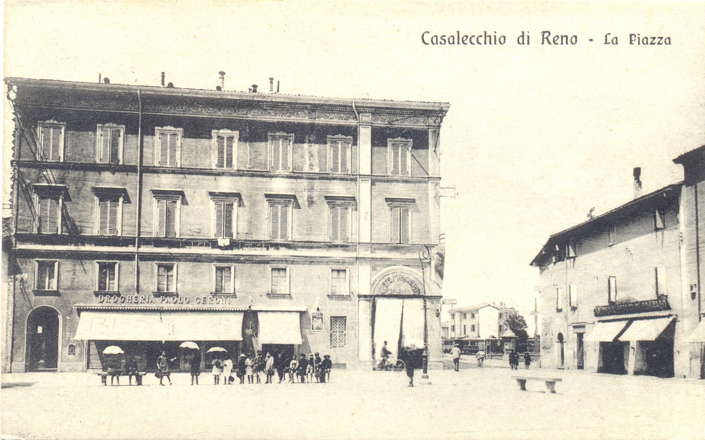 La Cà di Quèder in una cartolina dell'inizio del '900 (Archivio fotografico Biblioteca C.Pavese)