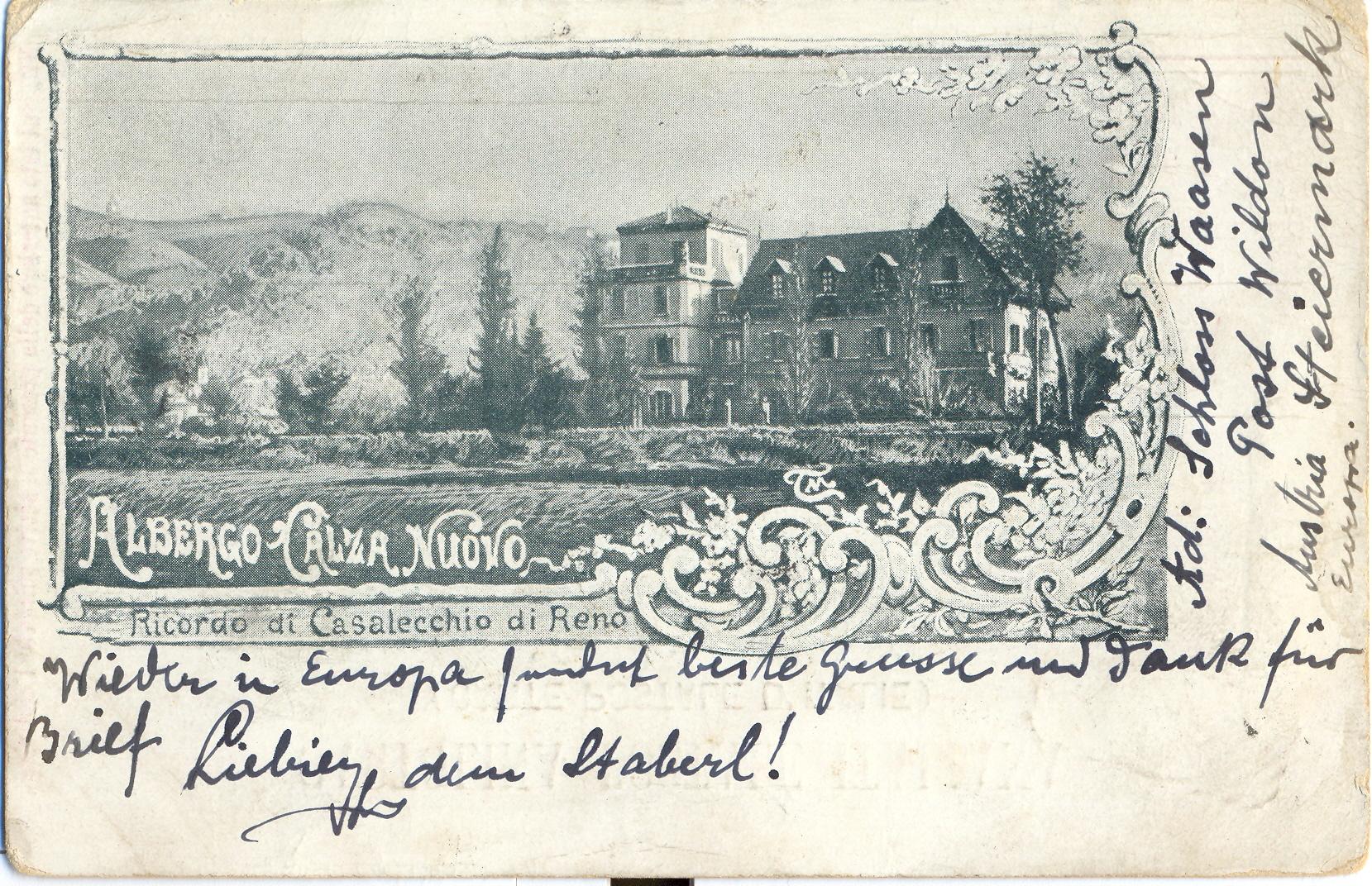 L'albergo Calza Nuovo (Archivio fotografico Biblioteca C. Pavese)