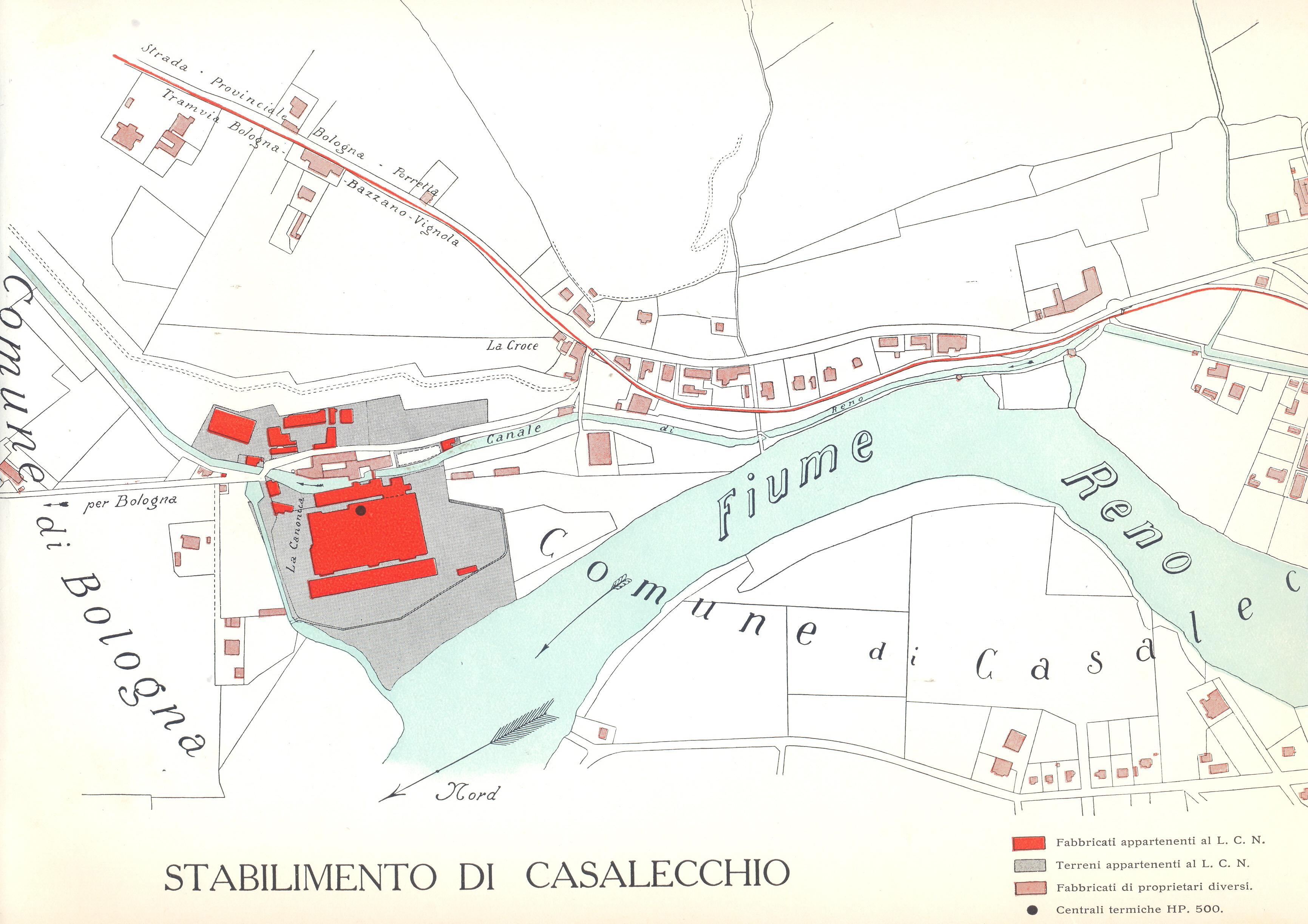 Planimetria del Linificio Canapificio Nazionale della Canonica