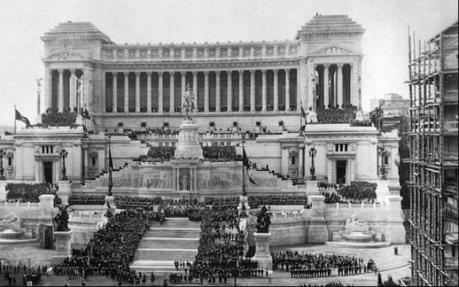 Tumulazione della salma del Milite Ignoto al Vittoriano o Altare della Patria