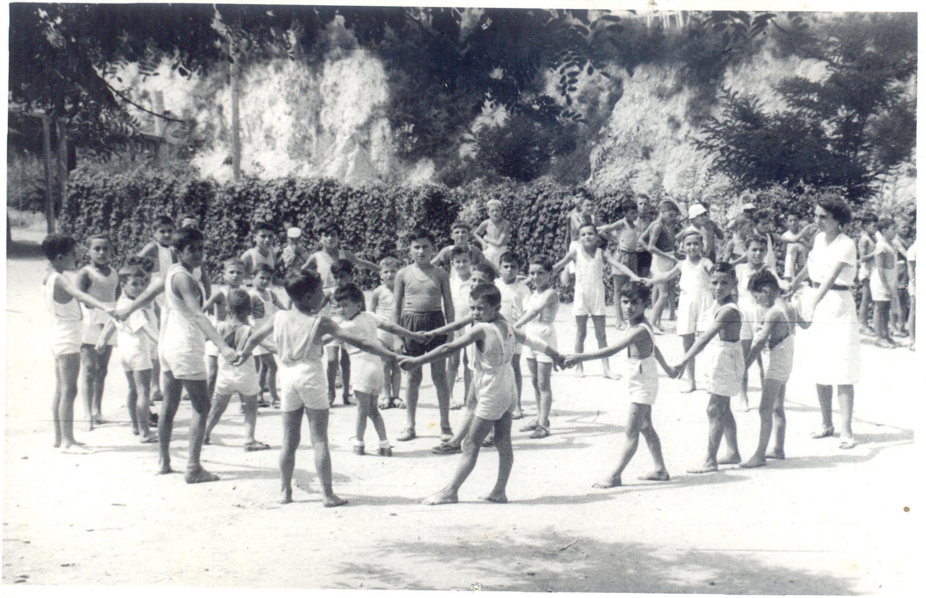 Casa del Sole, anni '30, giochi pomeridiani
