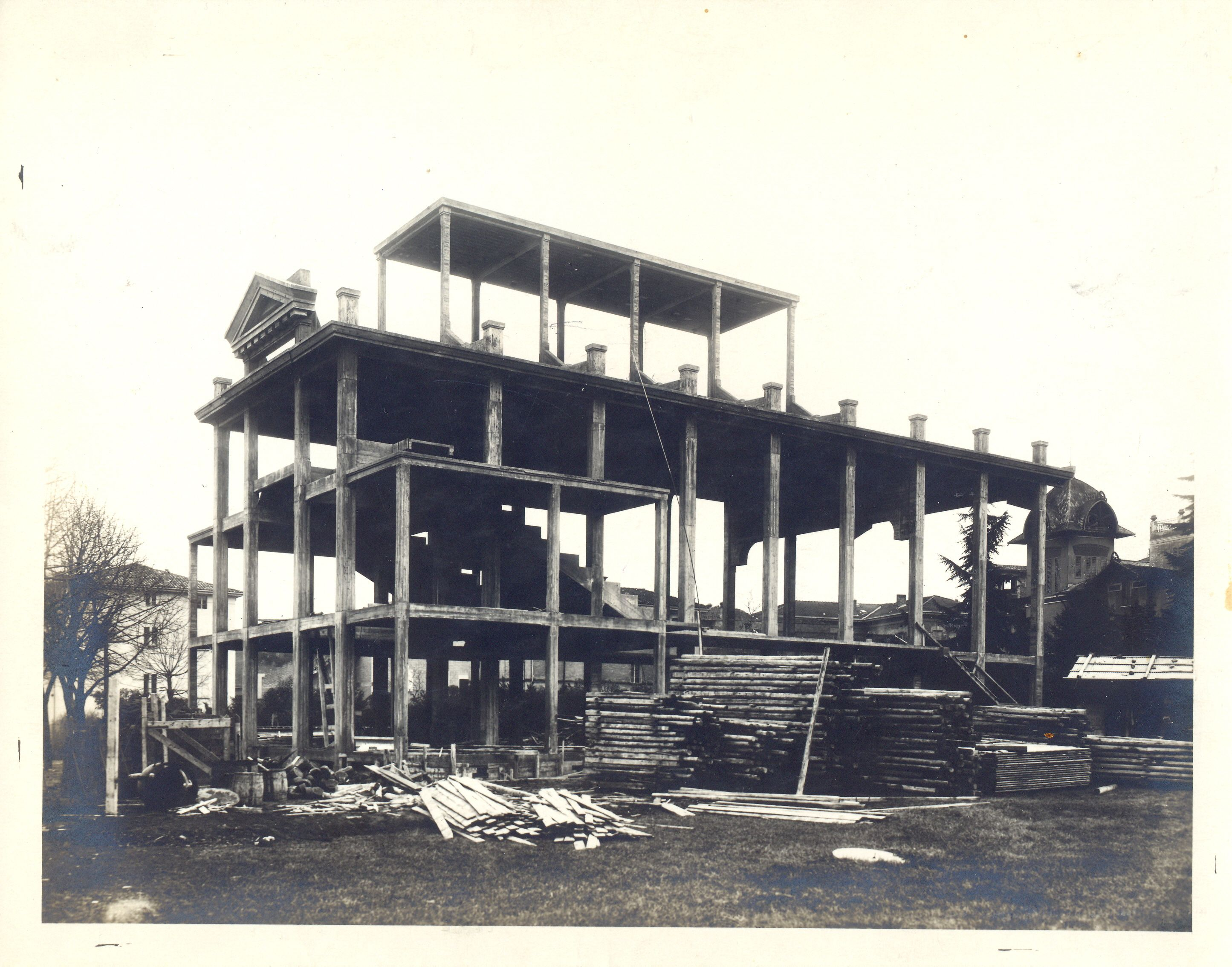 Fasi della costruzione delle Casa del Fascio